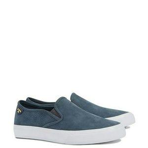 Tory Burch Lennon blue suede sneakers size 11